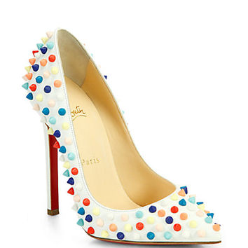 Pigalle 120 Multicolor Spiked Leather Pumps
