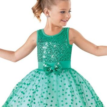 Weissman™ | Sequin Polka Dot Party Dress