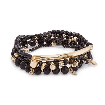 Kendra Scott Supak Black Spinel Beaded Bracelet Set