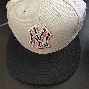 DCK4S2 New Era 59Fifty Ny New York Yankees Sz 7 5/8 Fitted Blue/Gray USA