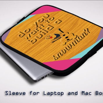 Disney Frozen Olaf Quote Y1471 Sleeve for Laptop, Macbook Pro, Macbook Air (Twin Sides)