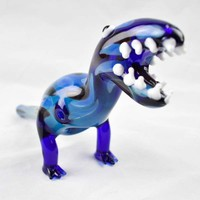 Dinosaur Glass Pipes Portable Hand Pipes Oil Burner Glass PipesBlue Animal