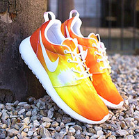 NIKE Women Men Running Sport Casual Shoes Sneakers Orange yellow