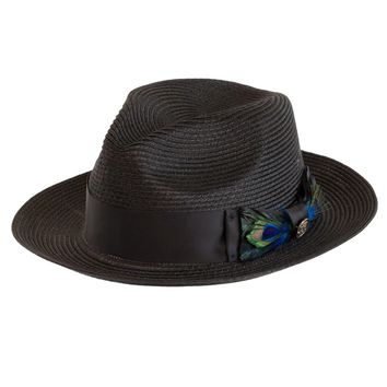 Casanova Poly Straw Fedora by Steven Land