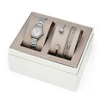 Blythe Three-Hand Stainless Steel Watch and Jewelry Gift Set - $155.00