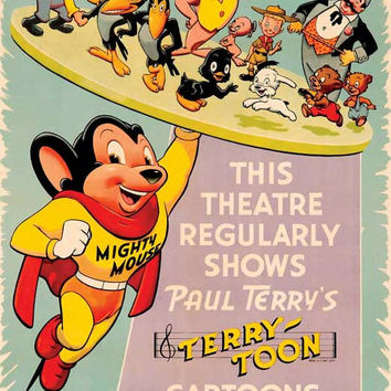 The Mighty Mouse Playhouse 11x17 TV Poster (1955)