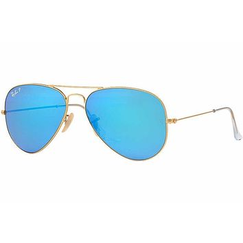 Cheap Ray-Ban Aviator Classic Sunglasses Polarized/ RB3025/ L0205 Blue Lens 58 mm outlet