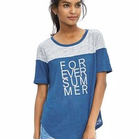 "Banana Republic Womens ""Forever Summer"" Linen Graphic Tee"