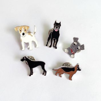NEW MINI cute dog Brooches Pins