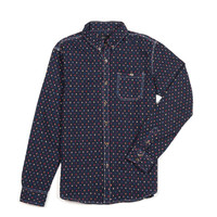 Jacquard Pixel Button Down