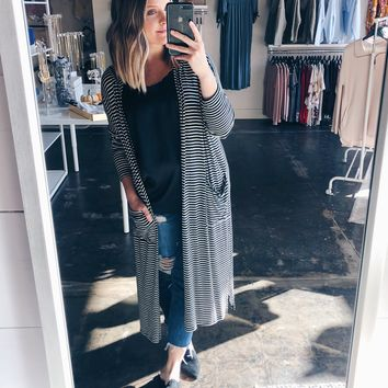 Caroline Striped Duster