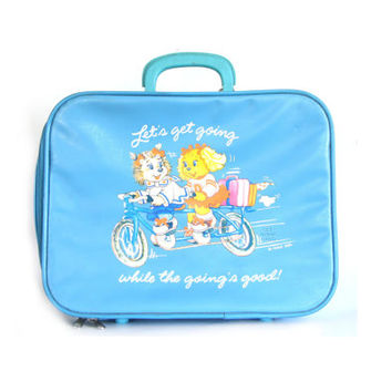 Get Along Gang Vintage Suitcase, 1980s Retro Get Along Gang Children's Suitcase