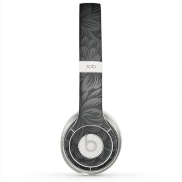 The Black & Gray Dark Lace Floral Skin for the Beats by Dre Solo 2 Headphones