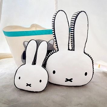Lovely Rabbit Cushion Pillow Kids Children Bed Decoration Calm Sleep Photo Props Gifts Girls Kids Room Decor Nordic Style