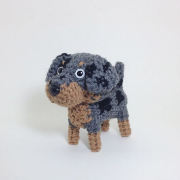 Louisiana Catahoula Leopard Dog Catahoula Hog Dog Catahoula Cur Amigurumi Dog Stuffed Animal Crochet Dog Dog Doll / Made to Order