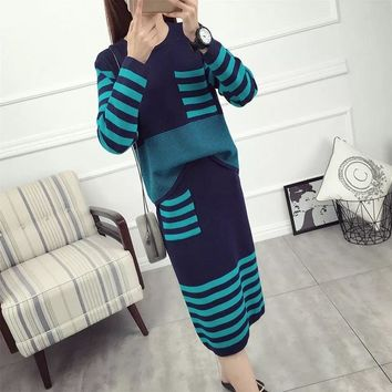 girls winter sets sweaters+long skirt 2016 girls fall clothes for 13 years teenage clothing suit outfit fashion teen