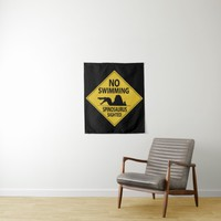 No Swimming - Spinosaurus Tapestry