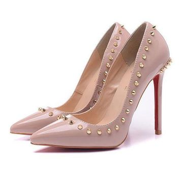 DCCK2 CL Christian Louboutin Women Rivet Heels Shoes