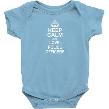 Keep Calm and Love Police Officers Baby Onesuit