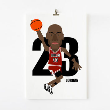 Michael Jordan 85 x 11 wall art print by loopzart on Etsy
