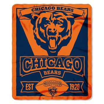 Chicago Bears NFL Light Weight Fleece Blanket (Marque Series) (50inx60in)