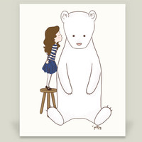 Anna and Armand - Be Kind Art Print by littlemoondance on BoomBoomPrints