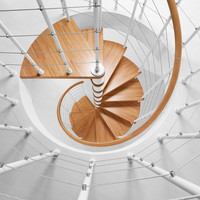Stainless steel Open staircase GENIUS 010 RA by Fontanot - Albini & Fontanot