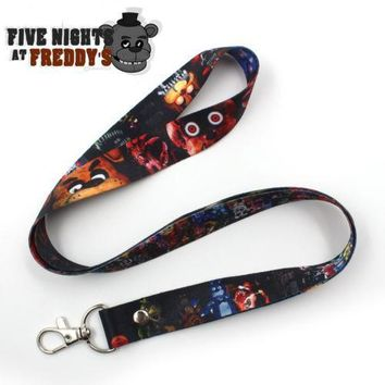 Game  at  Freddy Fazbear's Pizza Satin Phone Rope Chain Strap Clip Cord Charm Lariat Lanyard Keychain Gift
