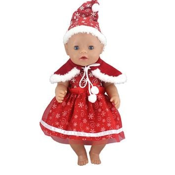 2 Styles Christmas Set Choose Doll Dress Fit For 43cm Baby Born Zapf Doll Reborn Babies Clothes And 17inch Doll Accessories