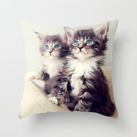 Cats Throw Pillow by Max Jones | Society6