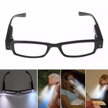 Relefree New Hiking Eyewear Multi Strength LED Reading Glasses Eyeglass Spectacle Diopter Magnifier Light UP Protect Eyes