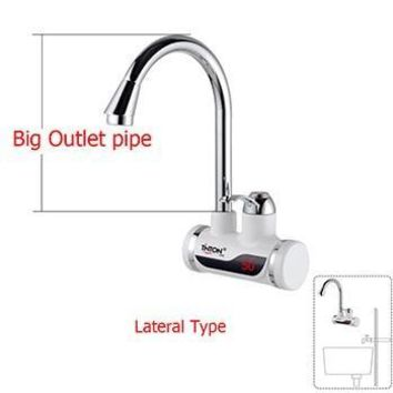 Instant Tankless Electric Hot Water Heater Faucet with LED EU Plug