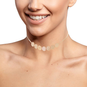 Teeny Polka Dot Chain Choker