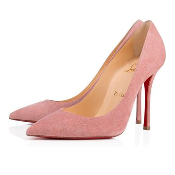 Christian Louboutin Cl Decoltish Voile Suede 17s Pumps 1170028f190 -