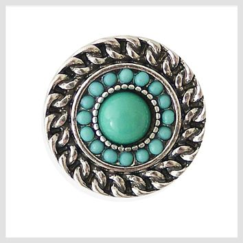 """Antique Rope Turquoise 20mm 3/4"""""""