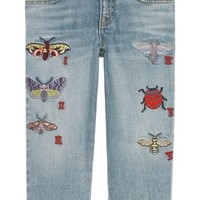 Gucci Insect Appliqué Jeans (Little Girls & Big Girls)   Nordstrom