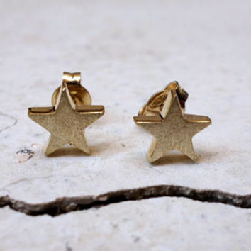 Gold Star Earrings STUD EARRINGS Simple Gold Stud Earrings Tiny Gold Earrings Gold Post Earrings Everyday Small Gold Earrings Geometric