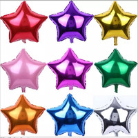 18 inch Star Shape Metallic Color Foil Balloons Birthday Wedding Decoration Party Baloons Inflatable Air Balls