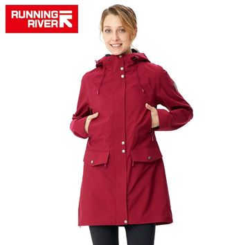 RUNNING RIVER Women Camping Hiking Jacket 4 Colors Size 36 - 46 High Quality Clothes Outdoor windbreaker Windproof coat  #K8362