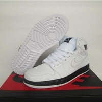 Air Jordan 1 Retro White Colorful Shoe