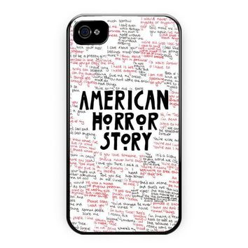 American Horror Story Quotes Supreme iPhone 4/4S Case