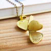 Four Heart Vintage Folding Locket