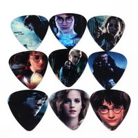 DCCK7N3 SOACH 10pcs 0.71mm Harry potter high quality two side earrings pick DIY design guitar accessries pick guitar picks