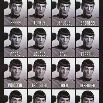 Star Trek Many Emotions of Spock Poster 24x36