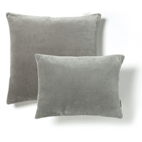 Velvet & Linen Cushions - Dove Grey
