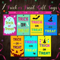 Trick or Treat Gift Tags