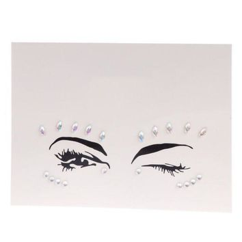ac PEAPO2Q ZL05 Face Eye Jewel Acrylic Rhinestone Body Art Sticker Tattoo Party Performance-M15