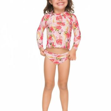 Girls Long Sleeve Rash Guard