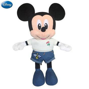 Disney Brand Mickey Mouse 33cm Big Plush Stuffed Animal Toys Cute Doll Baby Boys Girls Kids Toys for Birthday Christmas Party