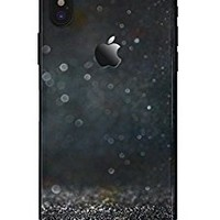Black Unfocused Glowing Shimmer - DesignSkinz Ultra-Thin / Precision-Fit Skin for the iPhone X / Soft Matte Finish